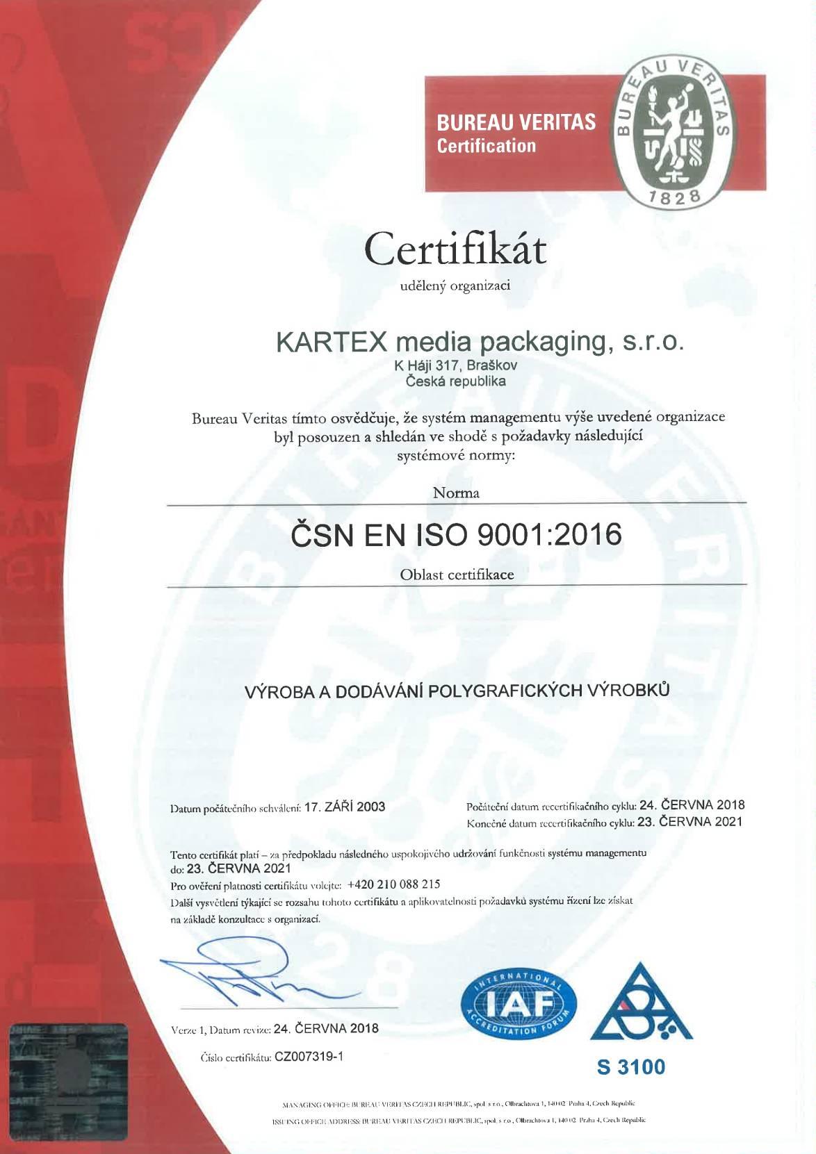 Certificate-CSN-CZ